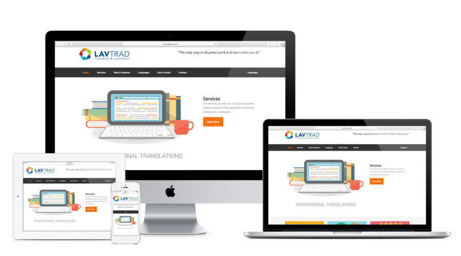 Web design for LavTradServ