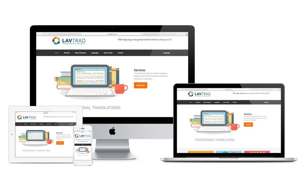 Web design for LavTradServ