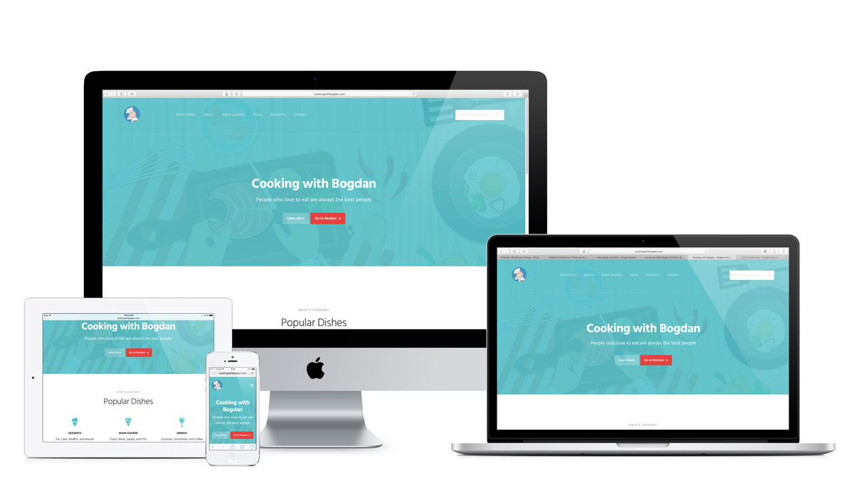 Web design for Cooking with Bogdan