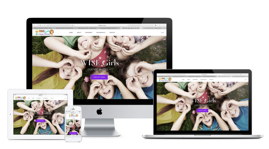 Web design for WISE Girls Happy Women