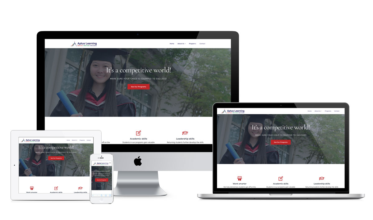 Web design for Aptus Learning